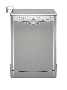 Indesit DFG15B1S 12-Place Full Size Dishwasher withQuickWash - Silver Best Price, Cheapest Prices