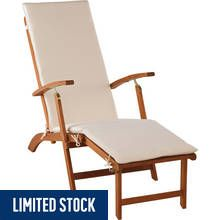 Argos Home Foldable Multiposition Sun Lounger with Cushion Best Price, Cheapest Prices