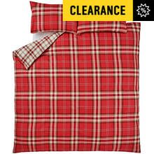 Catherine Lansfield Kelso Red Tartan Bedding Set - Kingsize Best Price, Cheapest Prices