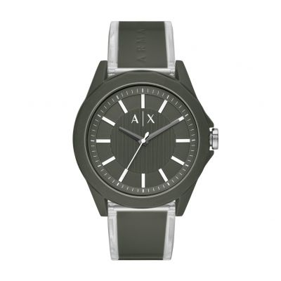 Armani Exchange Men's Military Green Strap Watch Best Price, Cheapest Prices