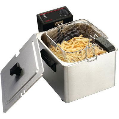 Caterlite Light Duty Single Tank Single Basket CD274 Commercial Fryer - Stainless Steel Best Price, Cheapest Prices