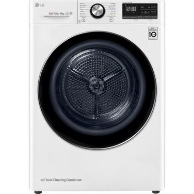 LG V9 FDV909W Wifi Connected 9Kg Heat Pump Tumble Dryer - White - A+++ Rated Best Price, Cheapest Prices