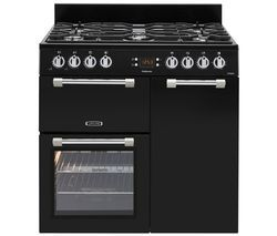 LEISURE Cookmaster 90 Dual Fuel Range Cooker - Black Best Price, Cheapest Prices