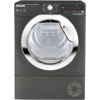 Hoover Dynamic Next Advance DXC8TCER 8Kg Condenser Tumble Dryer - Graphite - B Rated Best Price, Cheapest Prices