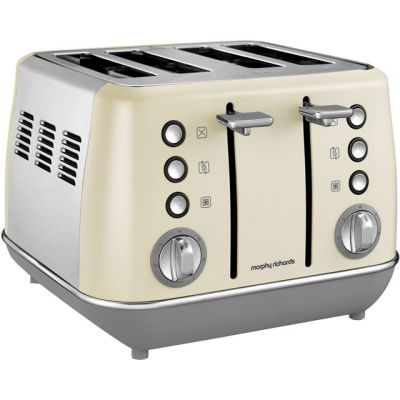 Morphy Richards Evoke 240107 4 Slice Toaster - Cream Best Price, Cheapest Prices
