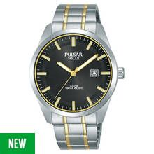 Pulsar Solar Men's Silver Stainless Steel Bracelet Watch Best Price, Cheapest Prices