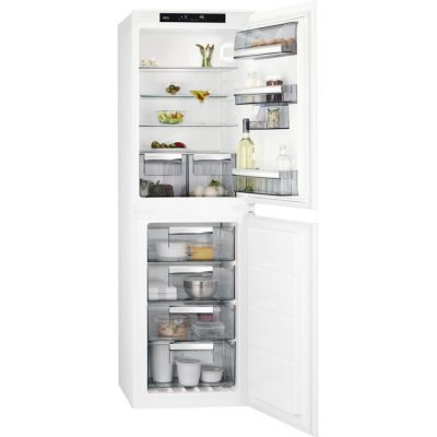 AEG SCE8181VNS Integrated 50/50 Frost Free Fridge Freezer with Sliding Door Fixing Kit - White - A+ Rated Best Price, Cheapest Prices