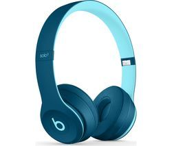 BEATS Solo 3 Wireless Bluetooth Headphones - Pop Blue Best Price, Cheapest Prices