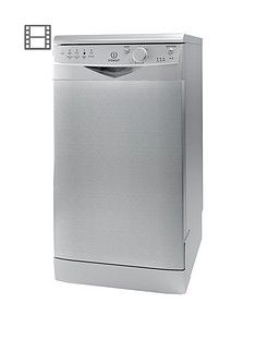 Indesit Ecotime DSR15BS 10-Place Slimline Dishwasher - Silver Best Price, Cheapest Prices