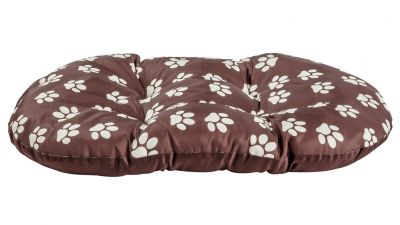 Paw Print Fleece Oval Cushion - Large Best Price, Cheapest Prices