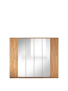 Prague 6 Door Mirrored Wardrobe Best Price, Cheapest Prices