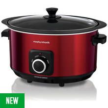 Morphy Richards Evoke 6.5L Sear and Stew Slow Cooker - Red Best Price, Cheapest Prices