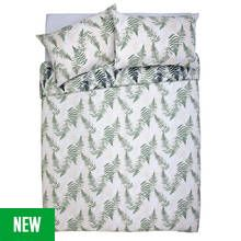 Argos Home Green Fern Print Bedding Set - Double Best Price, Cheapest Prices