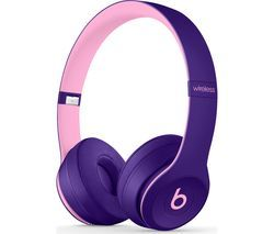 BEATS Solo 3 Wireless Bluetooth Headphones - Pop Violet Best Price, Cheapest Prices