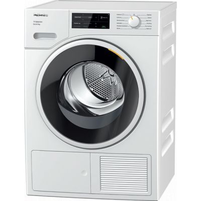 Miele T1 TSJ663WP 9Kg Heat Pump Tumble Dryer - White - A+++ Rated Best Price, Cheapest Prices