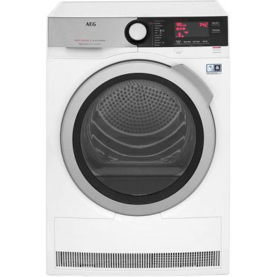 AEG AbsoluteCare Technology T8DEC846R 8Kg Heat Pump Tumble Dryer - White - A++ Rated Best Price, Cheapest Prices
