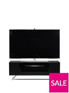 Alphason Chromium Tv Stand - Fits Up To 46 Inch Tv - Black Best Price, Cheapest Prices