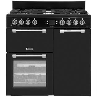 Leisure Cookmaster CK90G232K 90cm Gas Range Cooker with Electric Fan Oven - Black - A+/A Rated Best Price, Cheapest Prices
