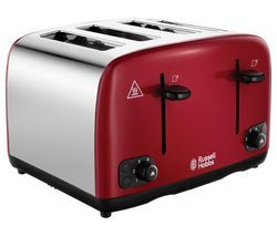 RUSSELL HOBBS Cavendish 24092 4-Slice Toaster - Red Best Price, Cheapest Prices