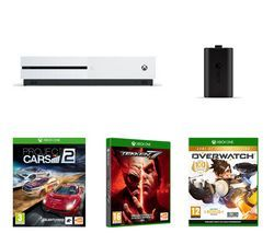 MICROSOFT Xbox One S, Tekken 7, Overwatch, Project Cars 2 & Charge Kit Bundle Best Price, Cheapest Prices