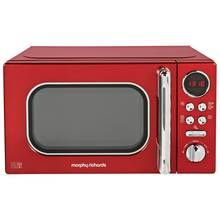 Morphy Richards Evoke Red Microwave 20L Solo 800w 511502 Best Price, Cheapest Prices