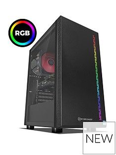 PC Specialist Stalker RT Intel Core i5, 8GB RAM, 1TB Hard Drive & 120GB SSD, 6GB Nvidia Geforce GTX 1660 Graphics, Gaming Desktop - Black Best Price, Cheapest Prices
