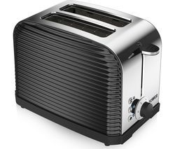 TOWER Linear T20007 2-Slice Toaster - Black Best Price, Cheapest Prices