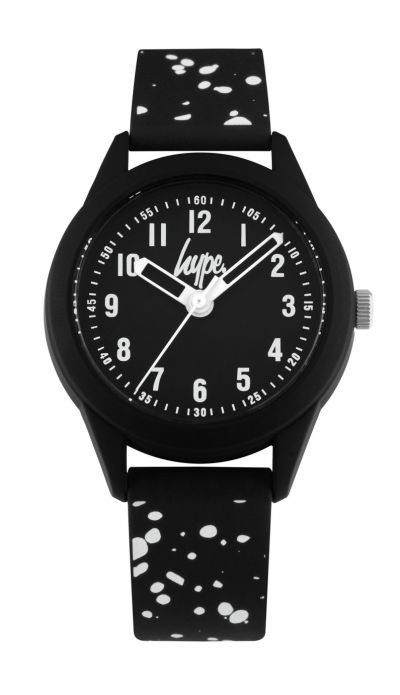 Hype Kids Black and White Splatter Silicone Strap Watch Best Price, Cheapest Prices
