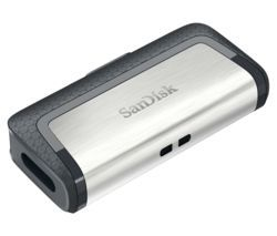 SANDISK Ultra USB Type-C & USB 3.1 Dual Memory Stick - 64 GB, Silver Best Price, Cheapest Prices