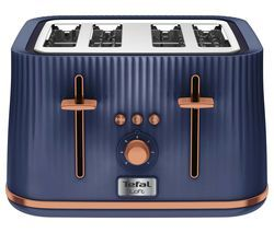 TEFAL Loft TT760440 4-Slice Toaster - Blue & Rose Gold Best Price, Cheapest Prices
