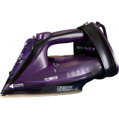 Tower T22008 2400 Watt Cordless Iron -Purple Best Price, Cheapest Prices