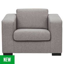 Argos Home Ava Fabric Armchair - Light Grey Best Price, Cheapest Prices