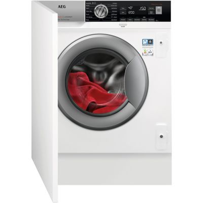 AEG OkoMix Technology L8FC8432BI Integrated 8Kg Washing Machine with 1400 rpm - A+++ Rated Best Price, Cheapest Prices