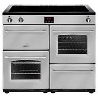 Belling Farmhouse 100Ei 100cm Electric Induction Range Cooker in Silver Best Price, Cheapest Prices