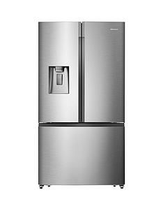 Hisense RF702N4IS1 91cm Wide, Total No Frost , French Door, Food Centre Fridge Freezer - Premium Stainless Steel effect Best Price, Cheapest Prices