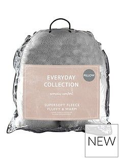 Everyday Collection Teddy Fleece V Shaped Pillow Best Price, Cheapest Prices