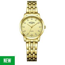 Rotary Ladies' Diamond Set Dial Gold Coloured Bracelet Watch Best Price, Cheapest Prices