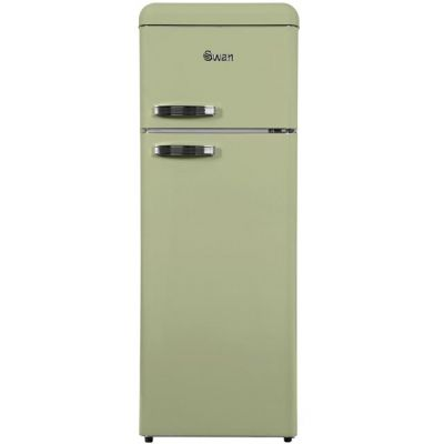 Swan Retro SR11010GN 80/20 Fridge Freezer - Green - A+ Rated Best Price, Cheapest Prices