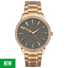 Seksy Ladies' Rose Gold Plated Grey Dial Bracelet Watch Best Price, Cheapest Prices