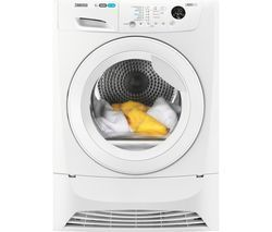 ZANUSSI ZDC8203WZ 8 kg Condenser Tumble Dryer - White Best Price, Cheapest Prices