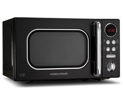 MORPHY RICHARDS Accents 511500 Compact Solo Microwave - Black Best Price, Cheapest Prices