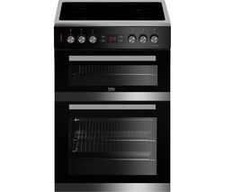 BEKO Pro JDC683X 60 cm Electric Ceramic Cooker - Stainless Steel & Black Best Price, Cheapest Prices