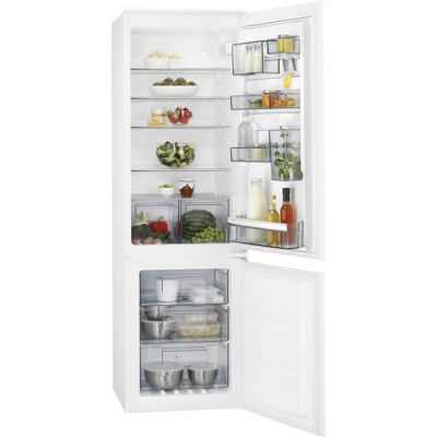 AEG SCB6182VNS Integrated 70/30 Frost Free Fridge Freezer with Sliding Door Fixing Kit - White - A++ Rated Best Price, Cheapest Prices