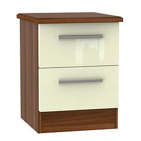 Knightsbridge 2 Drawer Bedside Cabinet Best Price, Cheapest Prices