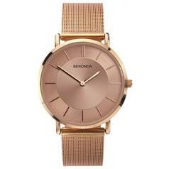 Sekonda Ladies Rose Gold Coloured Mesh Strap Watch Best Price, Cheapest Prices