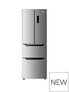 Swan SR15650 60cm Wide French Door Side By Side Fridge Freezer - Inox Best Price, Cheapest Prices