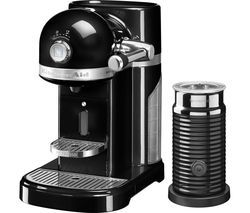 NESPRESSO by KitchenAid Artisan 5KES0504BOB Coffee Machine with Aeroccino 3 - Onyx Black Best Price, Cheapest Prices