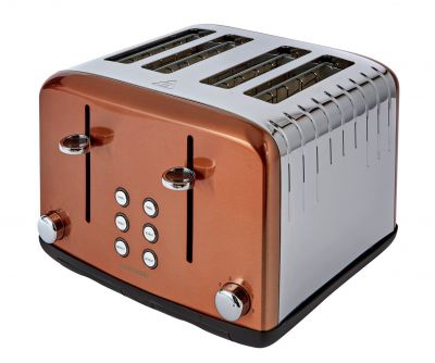 Cookworks Pyramid 4 Slice Toaster - Copper Best Price, Cheapest Prices