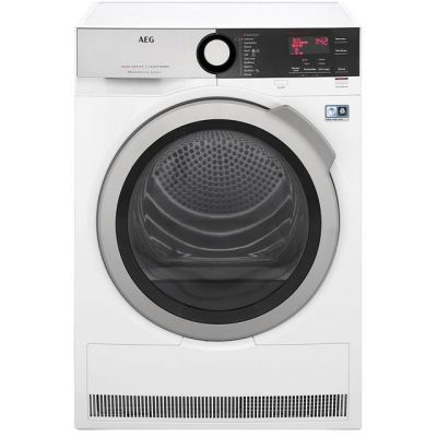 AEG AbsoluteCare Technology T8DEE845R 8Kg Heat Pump Tumble Dryer - White - A++ Rated Best Price, Cheapest Prices