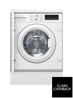 Bosch Serie 8 WIW28500GB 8kg Load, 1400 Spin Integrated Washing Machine - White Best Price, Cheapest Prices